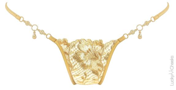 Damen String Gold Fever