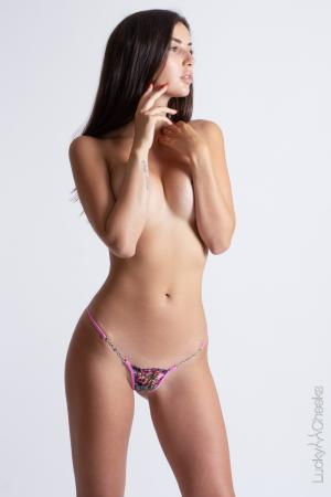 Luxury mini G-String for ladies - In Heaven Pink