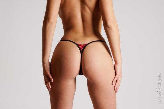 Luxus schwarzer Mini G String - Bolero in Black