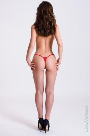 Mini G-String rot - Little Red von Lucky Cheeks