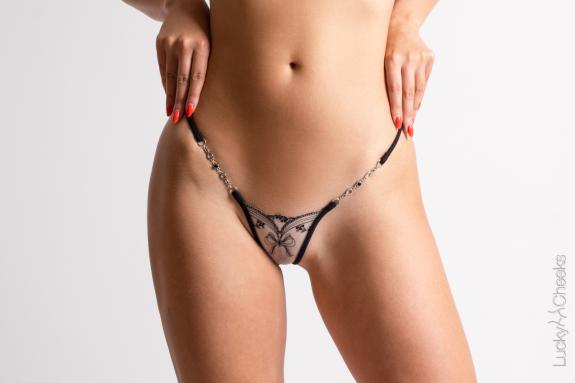 Mini G-String transparent - My Love by Lucky Cheeks