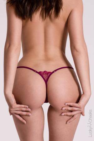 G-String violett Purple Temptation von Lucky Cheeks