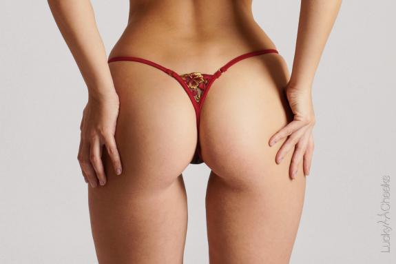 Red Bouquet - sexy mini thong by Lucky Cheeks