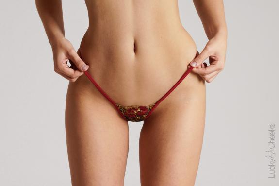 Red Bouquet - mini G-String by Lucky Cheeks