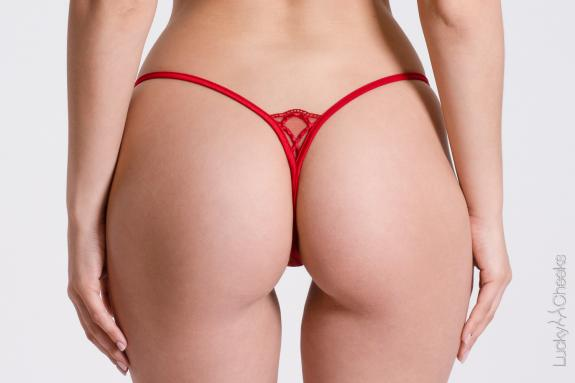 Woman's thong Little Red - Lucky Cheeks G-String