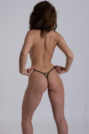 Queen of Love Black - sexy panty