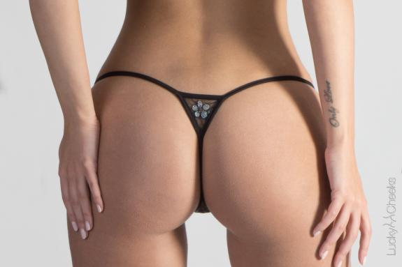 Transparent Breeze - luxury thong by Lucky Cheeks