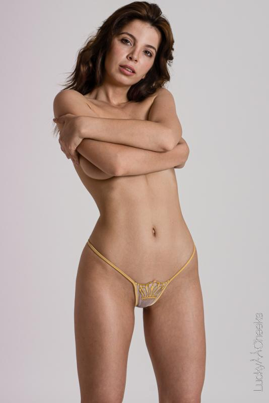G-String - Krone - Queen of Love Gold