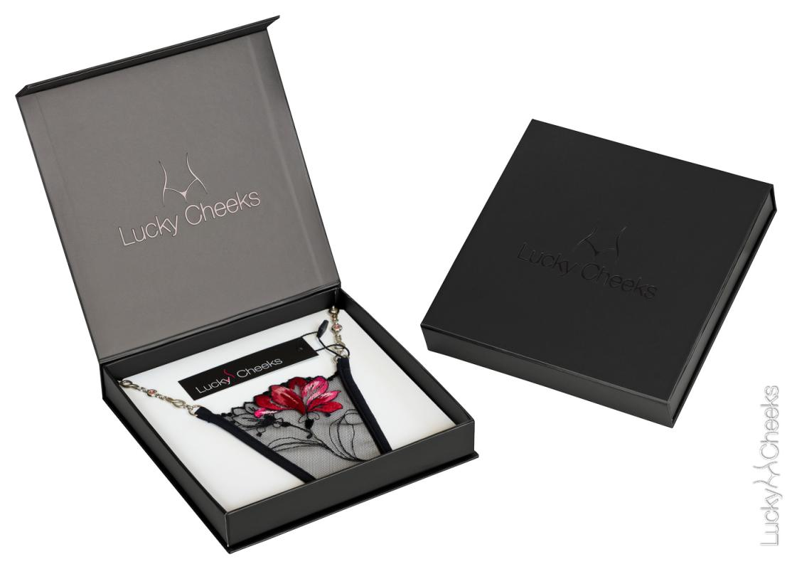 Red Flower Luxury thong packaging