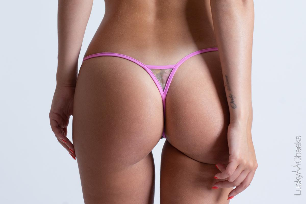 Luxury mini Gstring for woman - In Heaven Pink