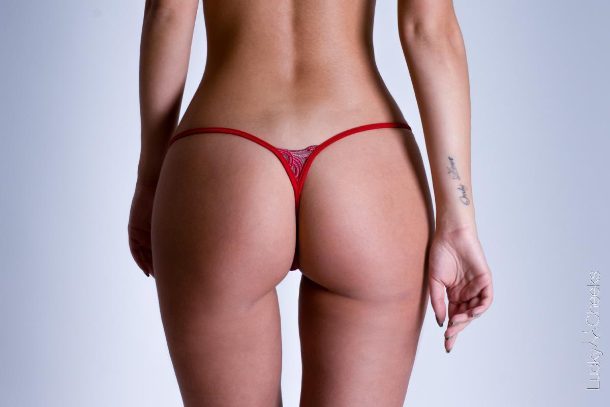 Woman's thong Red Love - Lucky Cheeks G-String