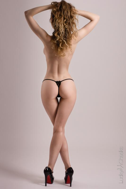 Lucky Cheeks mini G-String - Lady in Black by Lucky Cheeks
