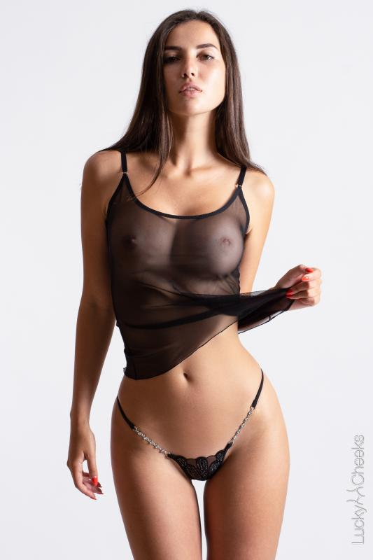 Mini luxus String Celebrity - Lucky Cheeks Dessous