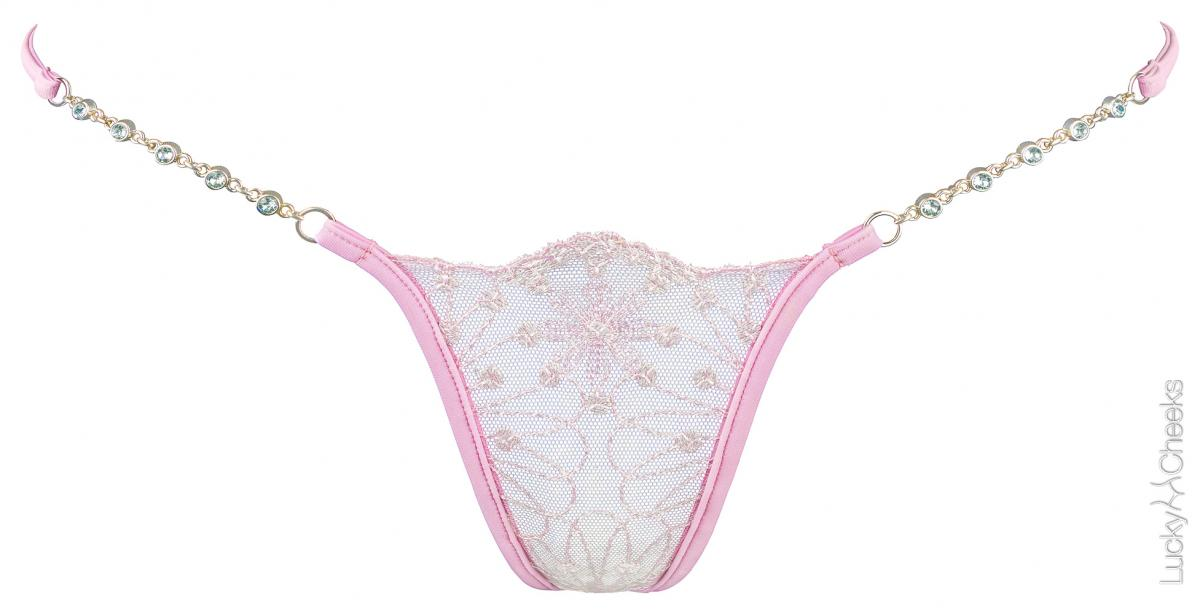 Soft Touch - pink thong by Lucky Cheeks